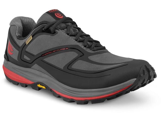 Topo Athletic Hydroventure 2 Zapatillas Running Hombre, gris/rojo